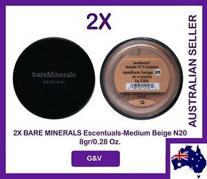 2x BareMinerals Escentuals Bare Minerals Original Medium Beige N20 8 gr/0.21 Oz.