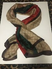 NWT authentic Gucci GG print Multi Color 100% silk scarf made in Italy