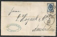 Russia 1888 folded letter Riga to Amsterdam