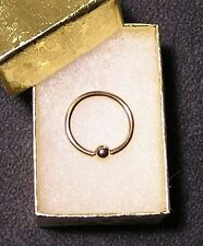 "NEW 14k Solid Gold Ring 16g x1/2"" CBR-14/20GF Body Jewelry Belly/Nipple/Lip NIB"