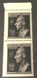 Bohemia & Moravia 1943, Heydrich, 2 Block 60 + 440, Never hinged
