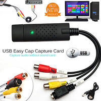 USB 2.0 Easy Cap VHS To DVD Capture Card Audio Video Converter Adapter