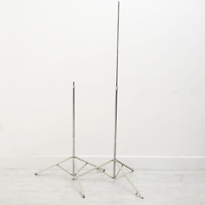 PAIR OF VINTAGE PHOTAX/INTERFIT LIGHT STANDS Max Height 1.75m
