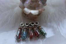 Mini Glas Flasche Anhänger charm Kette Perlen Basteln