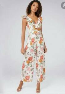 Forever New  Belted Linen culotte Jumpsuit Size 10 New With Tags