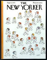 1975 Beginning of Football Season in the City Sept. 22 New Yorker Mag COVER ONLY