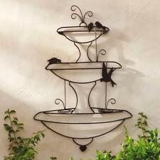 XL FRENCH WALL ART plaque back yard DECOR fountain  1m high  NEW black finish