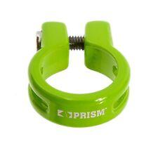 Khe Prism BMX sillín borna aluminio verde 28,6 logotipo láser