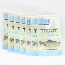 7 Pc Lot of Climax 9 ft 2X Trout Fresh Water Leaders 290204 Fly Fishing