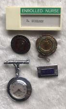 More details for vintage enrolled nurse hospital badges & fob watch collection