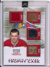 2013-14 Superlative MAURICE RICHARD Trophy Case Complete Package Quad Jersey /9