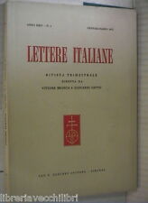 LETTERE ITALIANE 1972 Vaccaria di Ruzzante tra Plauto Terenzio Tasso D Annunzio