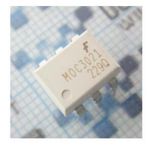 20PCS MOC3021 OPTOISO 400VDRM TRIAC OUT 6-DIP NEW GOOD QUALITY