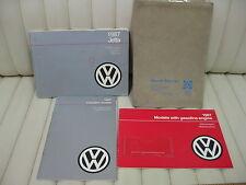 1987 Volkswagen VW Jetta  Car Owners Instruction Book Glove Box Manual KIT