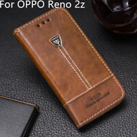 Phone Case For OPPO Reno 2Z Pu Leather Flip Case Wallet Stand Card Slots Cover