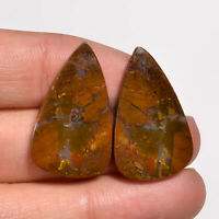HUNGARIAN Agate Cabochon 45.55 Cts 100/% Natural Hungarian Agate Pear Shape 27x47x5 mm Loose Gemstones