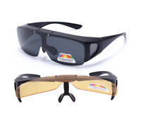 Fit over Polarized wrap around Sunglasses Fishing Flip up Eyeglasses Goggles