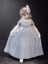 Royal Copenhagen Denmark #2444 DANCING GIRL IN BLUE DRESS  8 1/2""