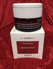 New listing Korres Wild Rose Vitamin C Brightening Night Cream 1.35 oz/40 mL Nib