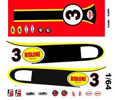 #3 Bobby Unser Rislone Racing 1968 1/64th Ho Scale Slot Car Waterslide Decals