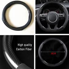Car Steering Wheel Cover Black Carbon Fiber 15inch 38CM For Toyota Honda Mazda