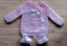 layette bébé,brassière-chaussons NAISSANCE/ classique confort blanc  rose 🌹