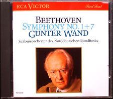 Günter muro: Beethoven Symphony No. 1 & 7 Gunter RCA CD 1989 Filarmonica ndr