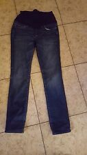 Paige Maternity Jeans Women's Sz 28 Blue Heights Low Rise Slim Straight
