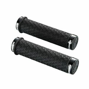 Sram: DH SILICONE LOCKING GRIPS BLACK WITH DOUBLE CLAMPS & END PLUGS: