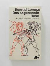 Konrad Lorenz Das sogenannte Böse Zur Naturgeschichte der Aggression dtv Verlag