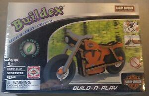 Buildex Build n Play Kit Harley Davidson Model Sportster Motorcycle Scale 1:10