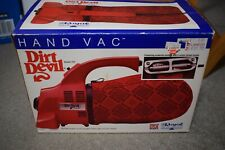 Royal Dirt Devil Hand Vac Handheld Vacuum Cleaner Red Model 103 EXC in Box USA
