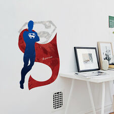 Large Superman Logo Super Hero Wall Decals Removable sticker Kids Boy Mural Gift