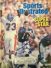 Phil Simms Signed Sports Illustrated 2/2/87 Issue  NFL NY Giants SB XXI MVP