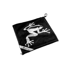 Frogger Golf Wet and Dry Amphibian Towel Black Brand New Towels Accessories