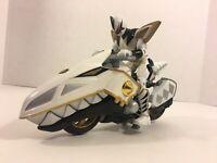 Power Rangers Dino Thunder WHITE RAPTOR CYCLE w/ Action Figure Bandai