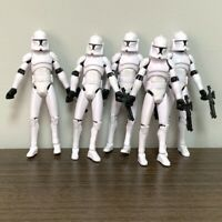 """Lot 5X Clone Wars No.5 Clone Trooper 3.75"""" Action Figure Xmas Gift Toy"""