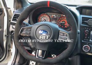2015 - 2020 Subaru WRX/STI suede steering wheel wrap