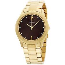 Skagen 36mm Three Hand Gold Tone Stainless Steel Quartz Ladies Watch SKW2108