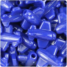 IDEAL FOR DUMMY CLIPS 6 x 25mm Royal Blue Opaque Planes Shape Pony Beads