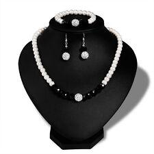 Pearl Necklace Earring Bracelet Set Wedding Pearls Jewelry Sets WLJ