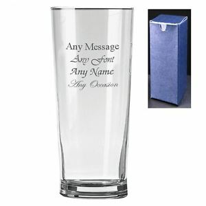 Personalised Engraved Senator Pint Cider Beer Glass - Perfect Gift Present