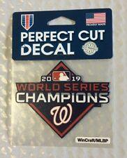 "Washington Nationals 4 x 4"" 2019 World Series Champions Car Window Die Cut Decal"