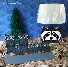 CRATE & BARREL KIDS RACCOON LAMP AND SHELF -NIB- A REAL STEAL FOR PLAYFUL DÉCOR!