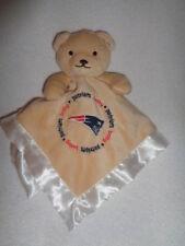 Security Blanket Bear NFL New England Patriots Baby Fanatic White Satin Lovey