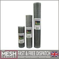 """Galvanised Welded Wire Mesh 1/2"""" x 1/2"""" 20G Aviary Chicken Rabbit Fence"""