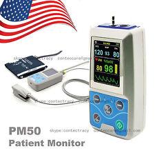 ABPM+SpO2 Ambulatory Blood Pressure Monitor 24h BP PM50 Blood Pressure Holter,US