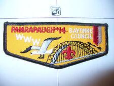 OA Pamrapaugh Lodge 14, F-3a, 1980s,Sea Gull Flap,WHT Tint PB,Bayonne Council,NJ