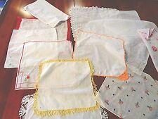 Collection of 12 vintage/Antique Handkerchiefs  nice