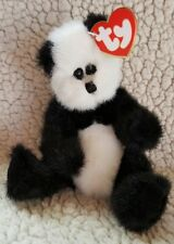 "TY 1993 Attic Treasures Collection - Checkers, ""King Me!"" Jointed Panda Bear"